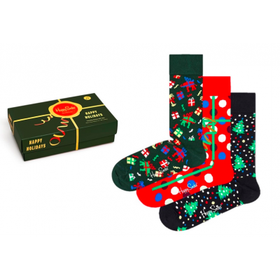Foto van Happy Socks HAPPY HOLIDAYS Gift Box 3 Pack XWHS08-0100 JINGLE BELL