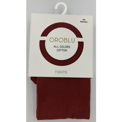 Foto van Oroblu All Colors katoenen panty VOBFC1LT0 44501 Redwood 1