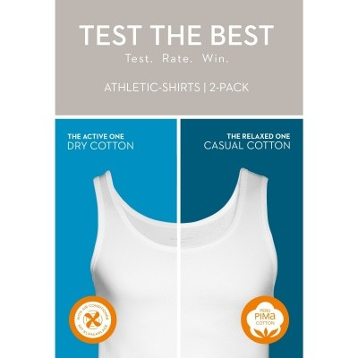 Foto van Mey TEST THE BEST athletic shirt WHITE 45300