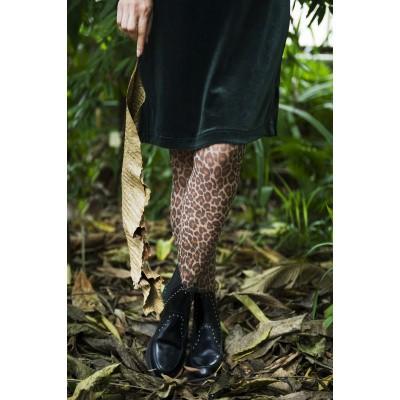 Foto van Bonnie Doon Fashion Toffee, Printed Leopard Tights BN95.19.62