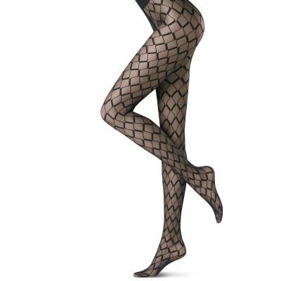 Foto van Oroblu Fashion Panty GRAPHIC VECTOR Bruin VOBC65511
