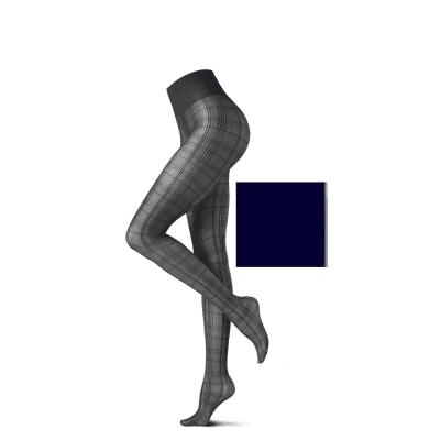 Foto van Oroblu Fashion Panty 20 Denier SQUARE Blauw VOBC65647