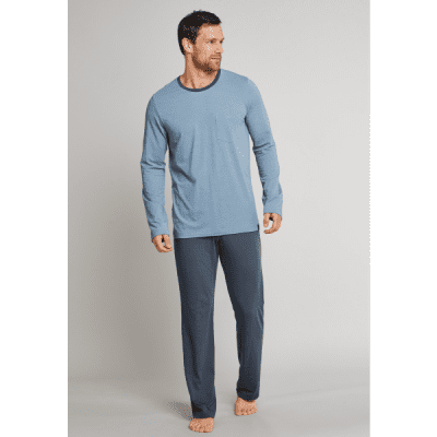 Foto van Schiesser Heren pyjama/loungewear set LIGHT BLUE 164100