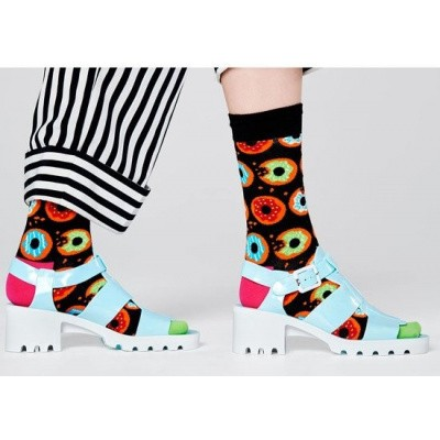 Foto van Happy socks zwart met DONUTS print DON01-9300