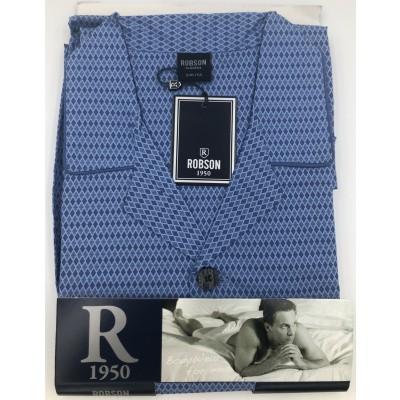 Foto van Robson Katoenen Heren pyjama BLUE 2781- 701