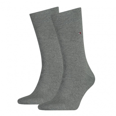 Foto van Tommy Hilfiger Herensok 2-pack MIDDLE GREY MELANGE 371111 758