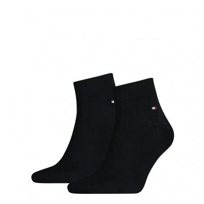 Foto van Tommy Hilfiger Heren quarter sneaker sokken 2-pack NAVY 342025001