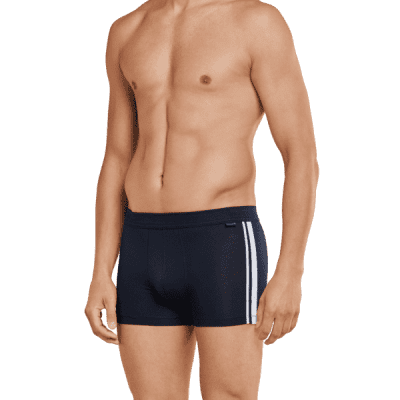 Foto van Schiesser Herenboxer 2-pack Cotton Stretch heren boxer DONKER BLAUW 035111