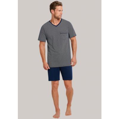 Foto van Schiesser Heren pyjama korte mouw, korte broek Blauw 173862 804