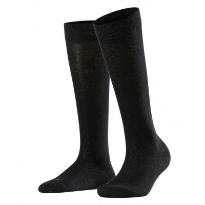 Foto van Falke Sensitive London dames kniekous BLACK 47626 - 3009