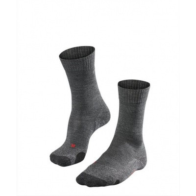 Foto van Falke TK2 Cool Trekking Sock Dames ASPHALT MEL. 16138-3180