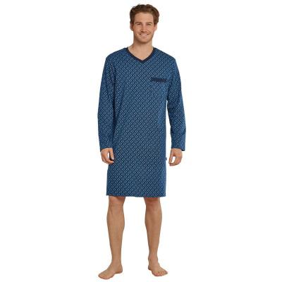 Foto van Schiesser Heren nachthemd Lange mouwen Donker Blauw 171422 - 803