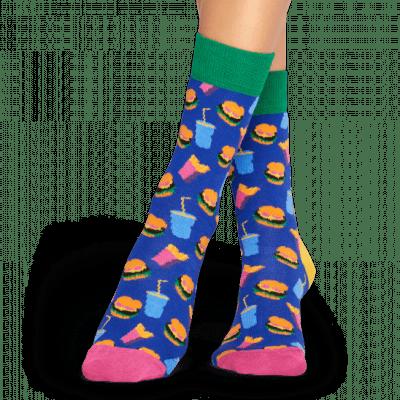 Foto van Happy socks Hamburger Sock HAM01-6000