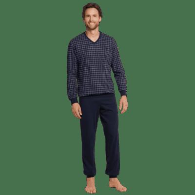 Foto van Schiesser Pyjama Lange broek / lange mouw Blauw 159618-803