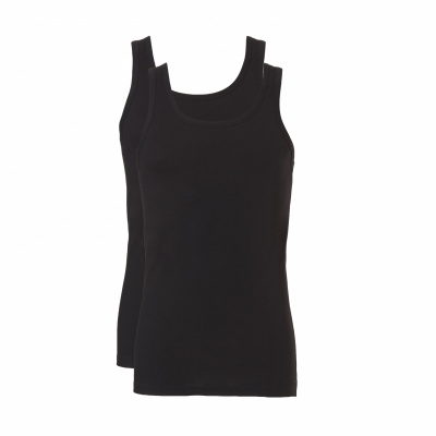 Foto van Ten Cate Men FINE 2-pack Singlet BLACK Mele 30226