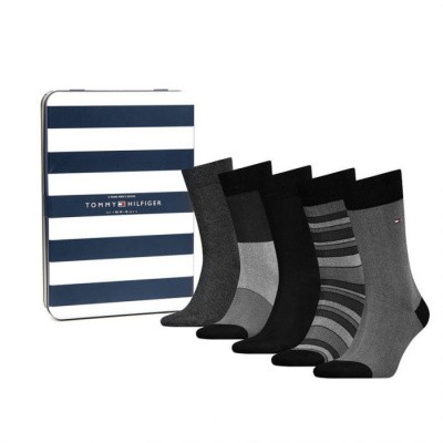 Foto van Tommy Hilfiger herensokken Giftbox 5-pack BLACK 492005001 200
