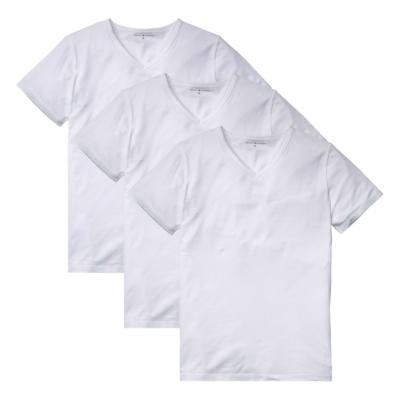Foto van Tommy Hilfige Premium Essentials 3-pack heren T-Shirts V-hals 2S87903767 100