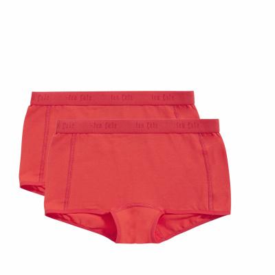 Foto van Ten Cate meisjes boxer 2 pack BASIC ORGANIC RED 31986 3035