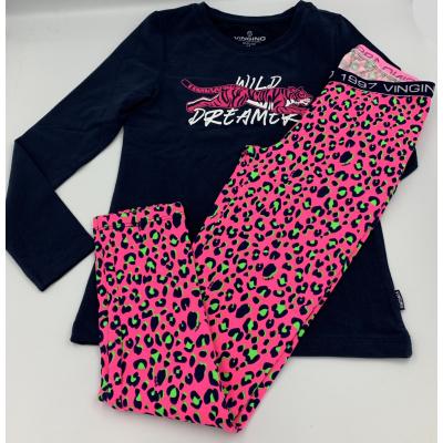 Foto van Vingino meisjes pyjama WANNEKE NEON PINK AW20KGN72401-500