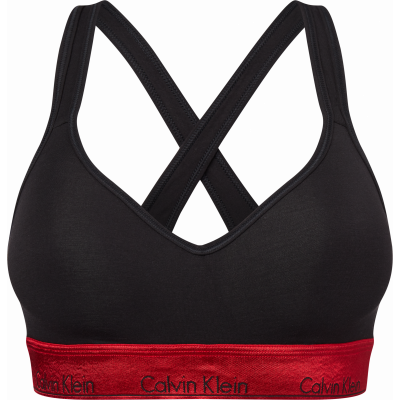 Foto van Calvin Klein Modern Cotton Bralette Lift BLACK/RED 000QF6129E 98G