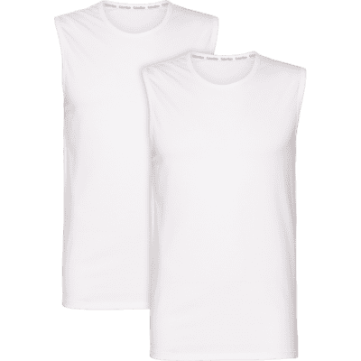 Foto van Calvin Klein Tank top Crew Neck 2-Pack WHITE 000NB1631A100