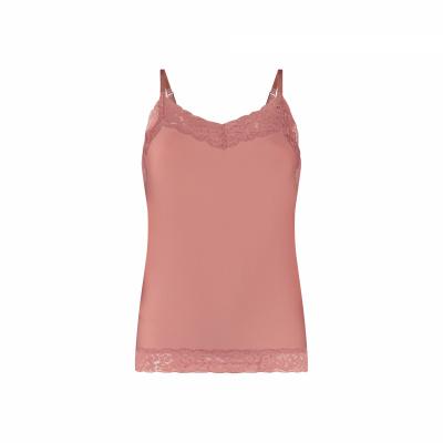 Foto van Ten Cate Secrets dames Spaghetti hemd met kant 31912- 3195 Soft Rose