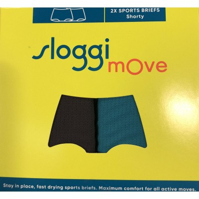 Foto van sloggi 2-Pack MOVE dames boxer short GREY/BLUE 10190405
