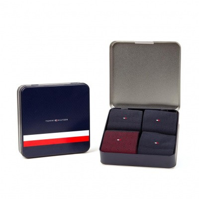 Foto van Tommy Hilfiger herensokken Giftbox 4-pack TOMMY ORIGINAL 492001001 085