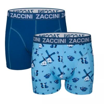 Foto van Zaccini 2-Pack Boxershort DELFSBLAUW M05-229-01