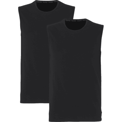 Foto van Calvin Klein Tank top Crew Neck 2-Pack BLACK 000NB1631A100 NOS