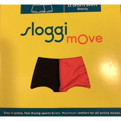 Foto van sloggi 2-Pack MOVE dames boxer short BLACK/PINK 10190405