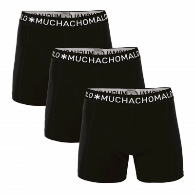 Foto van Muchachomalo 3-Pack Boys BLACK 1010JSOLID185