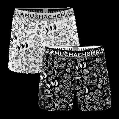 Foto van Muchachomalo heren boxer short 2-Pack ICONIC ART