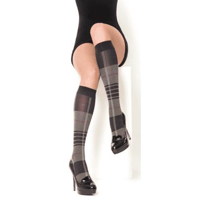 Foto van MarcMarcs panty kniekous karmen BLACK/BORDEAUX 87347