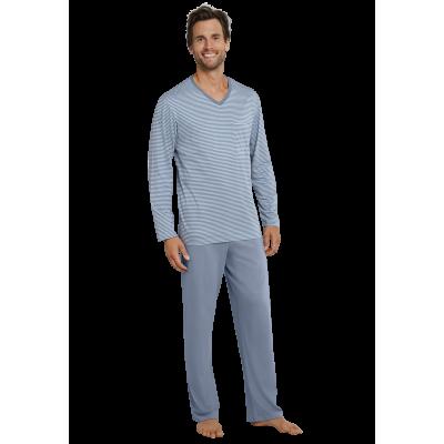 Foto van Schiesser Pyjama Lange broek / lange mouw Blauw 160438-209