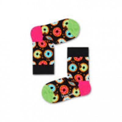 Foto van Happy socks kinderen zwart met DONUTS print KDON01-9300