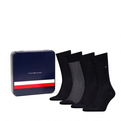 Foto van Tommy Hilfiger herensokken Giftbox 4-pack BLACK 492001001 200