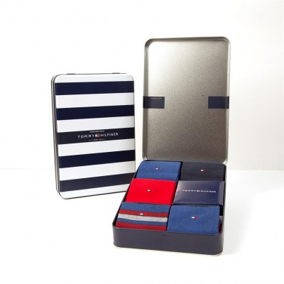 Foto van Tommy Hilfiger herensokken Giftbox 5-pack TOMMY ORIGINAL 492005001 085