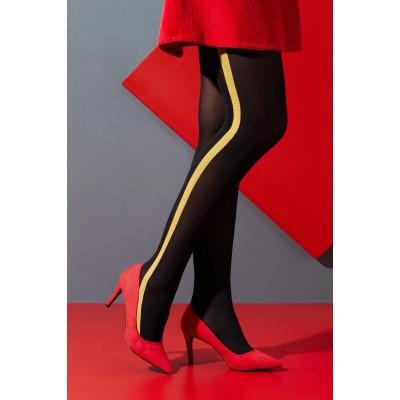Foto van Bonnie Doon Fashion Uniform Stripe BLACK/OKER GEEL BN851974
