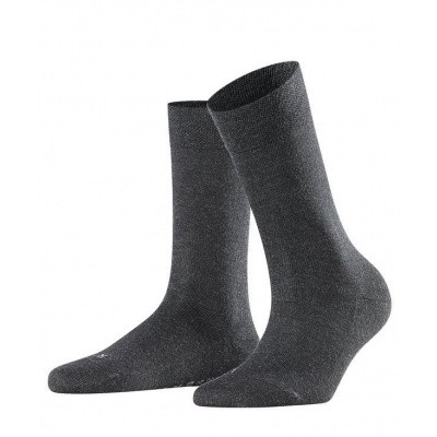 Foto van Falke Sensitive Damessok London ANTHRACITE MELE 47686 3089
