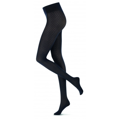 Foto van Oroblu ECO Fashion panty Black Geometric VOBC66666 20B