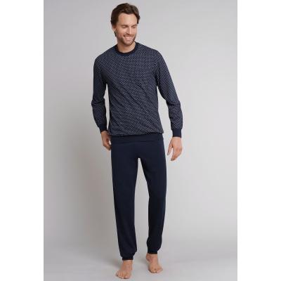 Afbeelding van Schiesser Heren pyjama/loungewear set DONKER BLAUW 159620 803