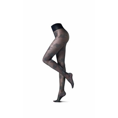 Foto van Oroblu Fashion Panty SILVER ROSE ZWART VOBC65989