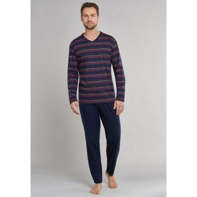 Foto van Schiesser Pyjama Lange broek / lange mouw Donker Blauw 171967-803