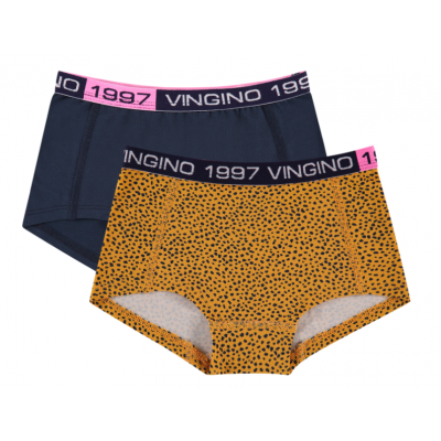 Foto van Vingino 2-Pack meisjes boxers Ohoh Old Yellow AW20KGN72609 305