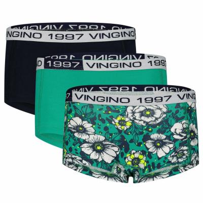 Foto van Vingino 3-Pack meisjes boxershort SANNE Mid Mint SS21KGN72607-272