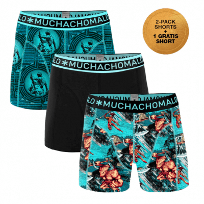 Foto van Muchachomalo herenboxers 3-Pack THE MAN THE MYTH Theseus