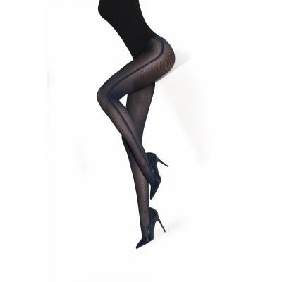 Foto van MarcMarcs Fashion Panty HONEYCOMB SIDELINE Zwart/Grijs 87370 6965