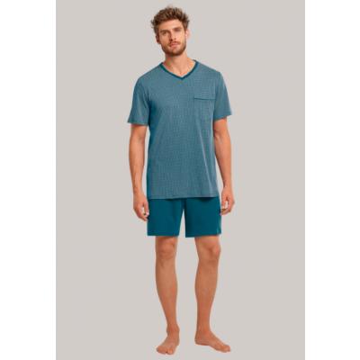 Foto van Schiesser Heren pyjama korte mouw, korte broek PETROL 173862 811