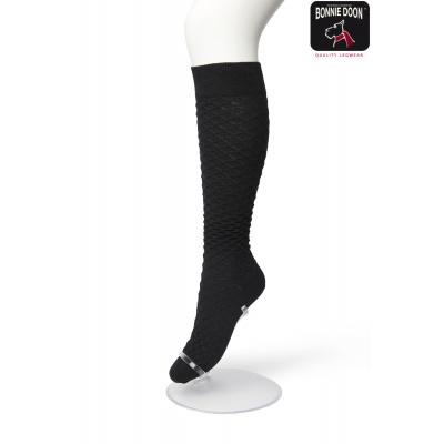 Foto van Bonnie Doon dames katoenen fashion kniekous BP211506 Black